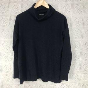 Eileen Fisher Merino Wool Navy Turtleneck Sweater